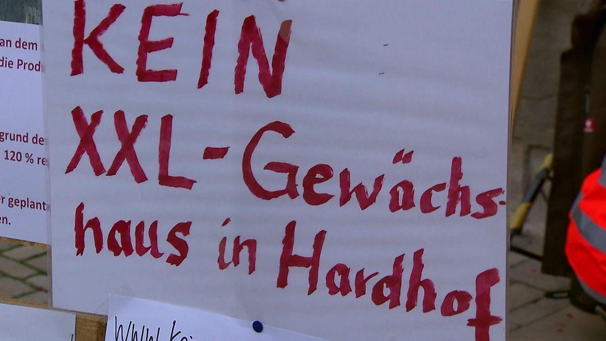 Demo gegen XXL-Gewächshäuser in Langenzenn