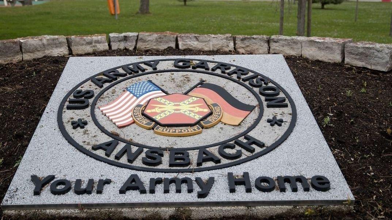 Eingang zur US-Kaserne in Ansbach