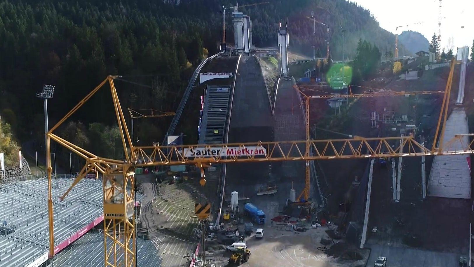 Baustelle in Oberstdorf