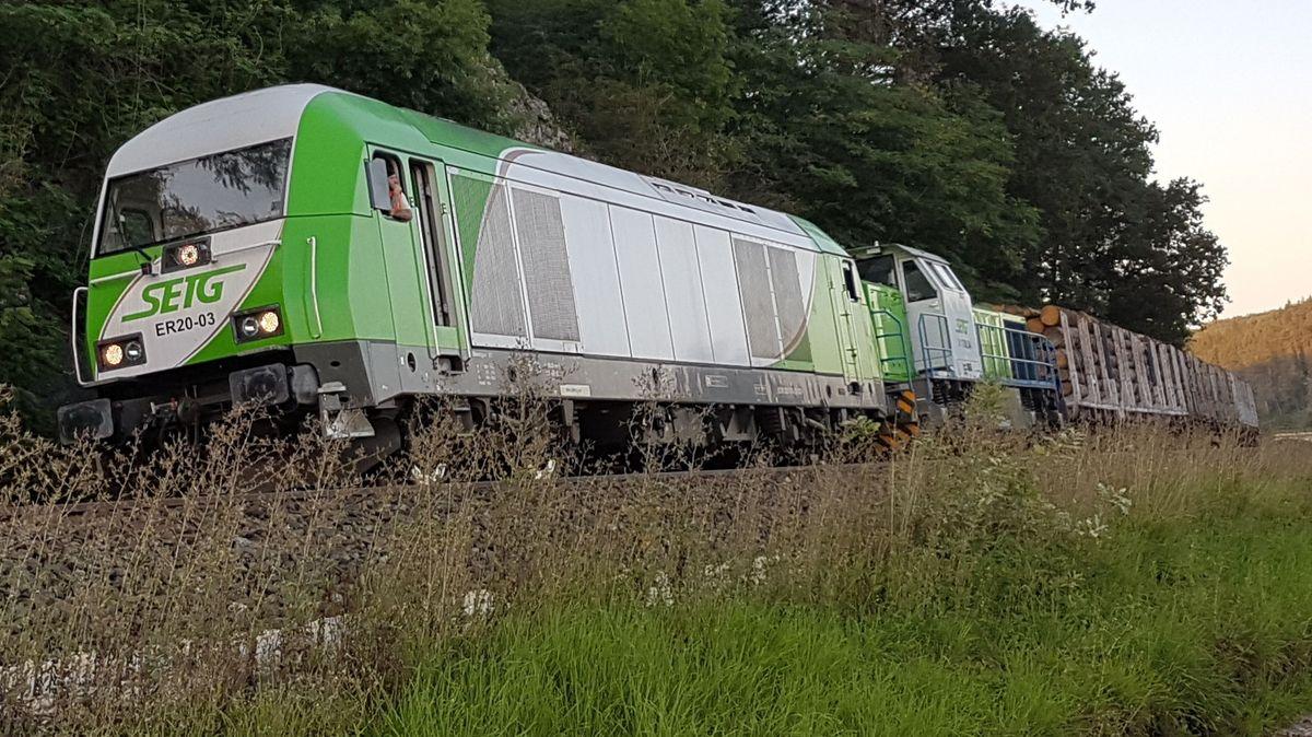 Der mit Holz beladene Güterzug, der im August 2019 ohne Bremsen und mit bis zu 100 Stundenkilometern durch Oberfranken und die Oberpfalz rollte.