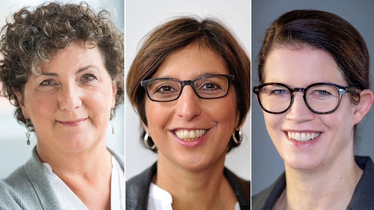 Anja Piel, Vanessa Ahuj und Christina Ramb bilden die neue Frauenspitze im  Kontroll- und Aufsichtsgremium der BA