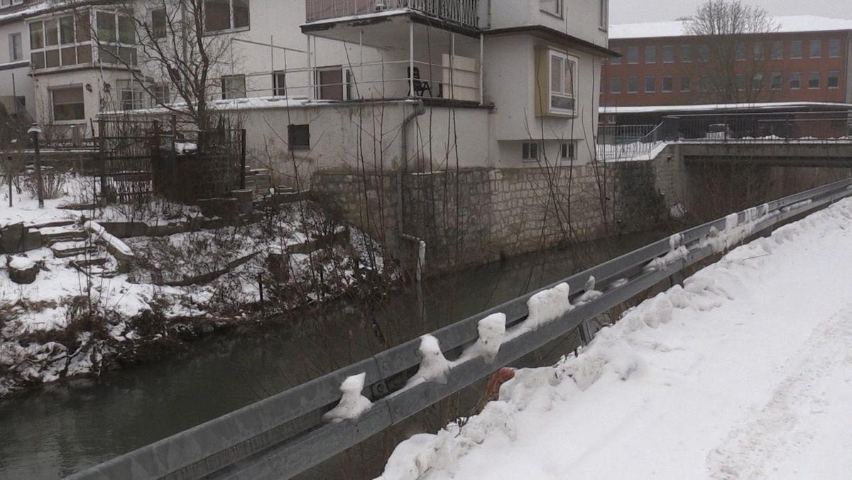 Wird gegen mögliches Hochwasser in der Stadt gerüstet: die Lauter, Zufluss der Itz in Coburg.