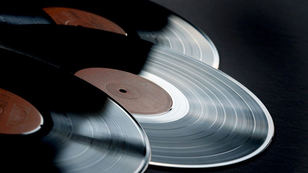 Verschiedene Schallplatten.