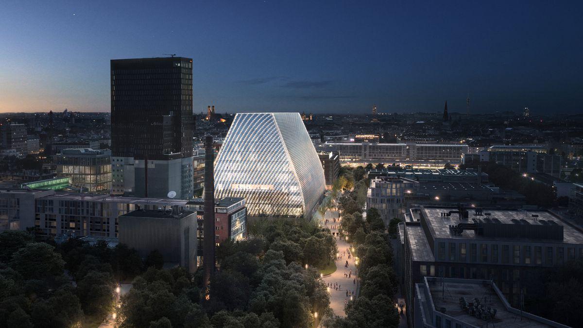 Fotomontage des neuen Konzerthauses München