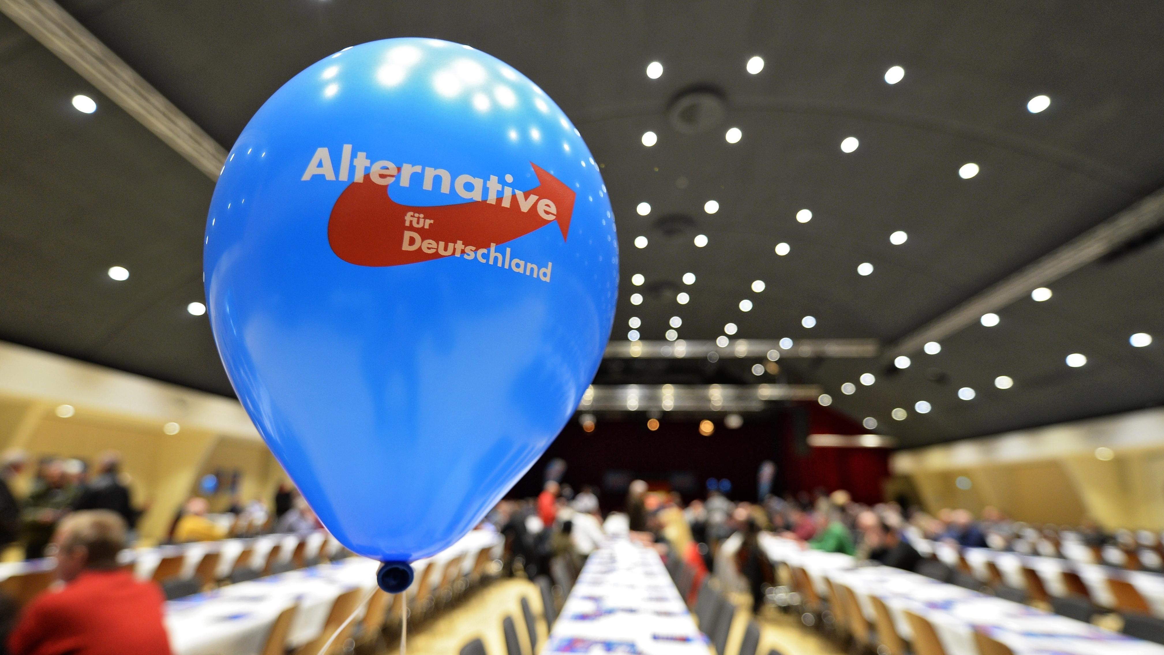 Ein Luftballon bei einer AfD-Veranstaltung (Archivbild)