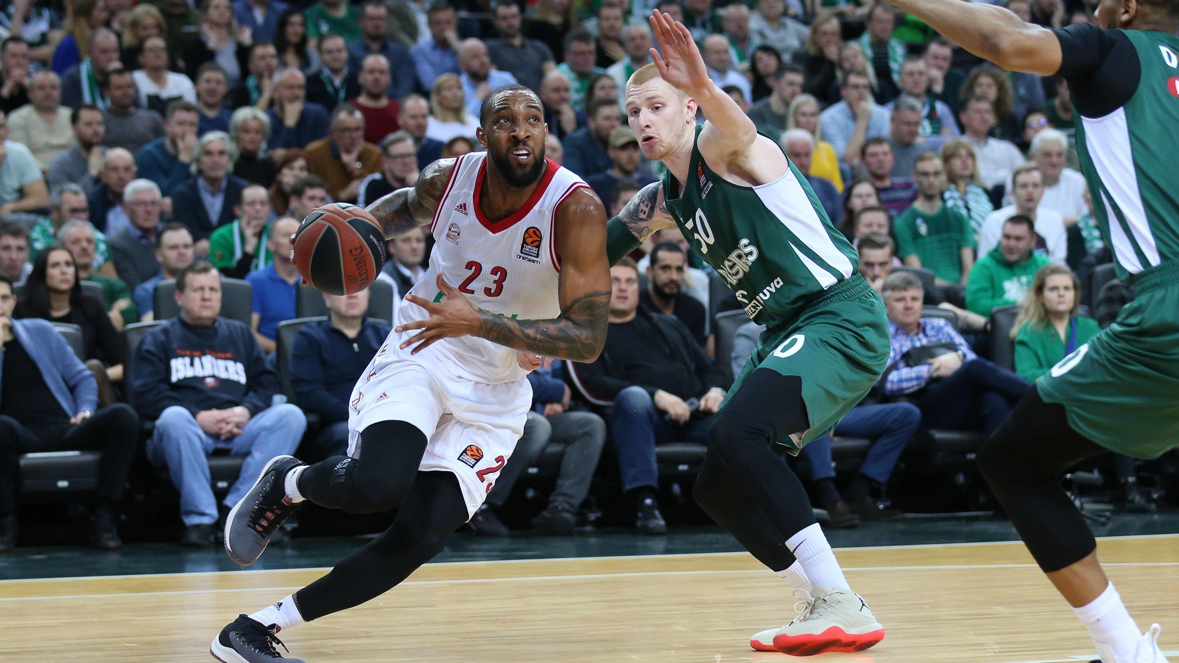 Szene aus dem Spiel Kaunas gegen Bayern München Basketball