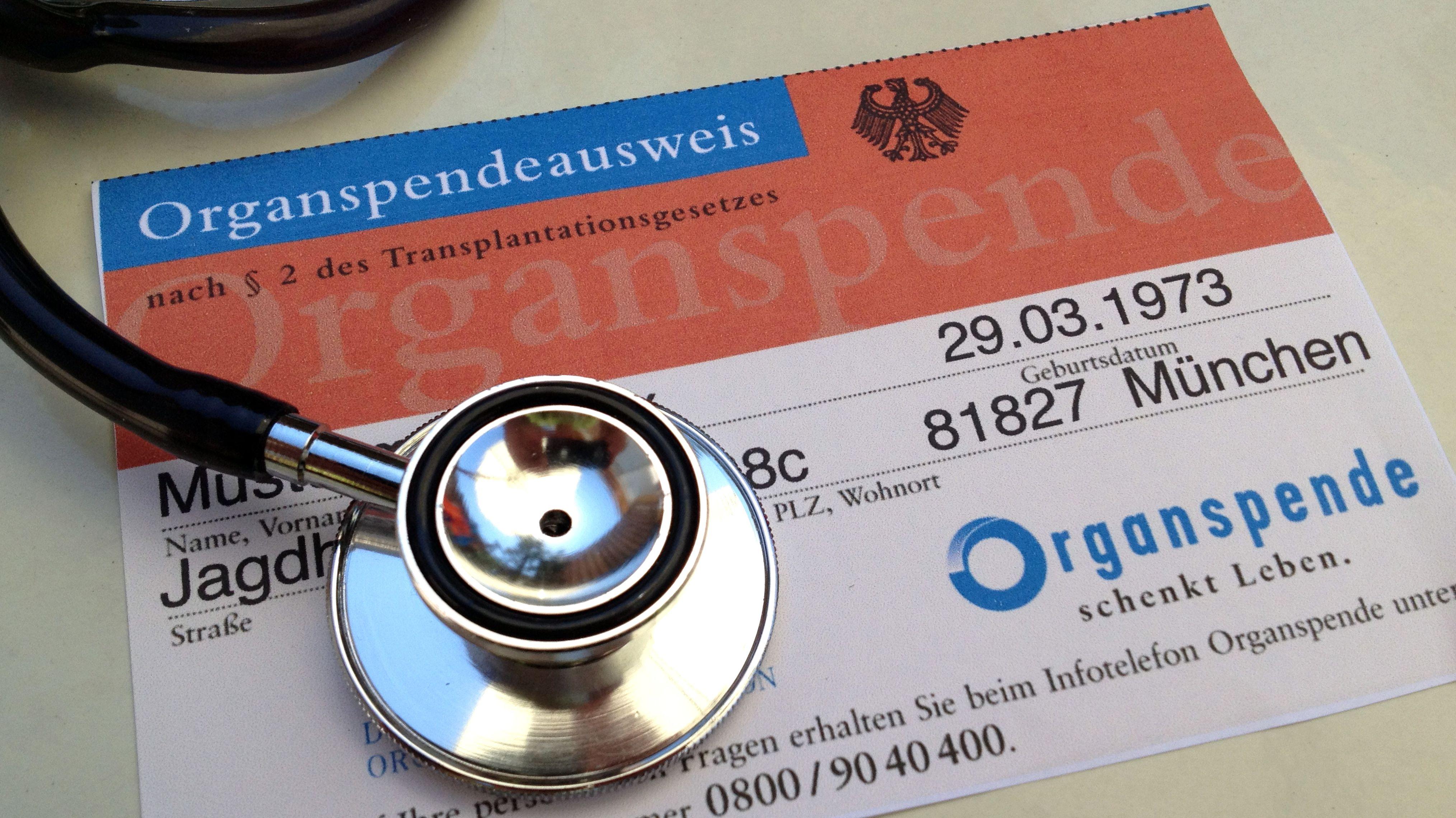 Symbolbild: Organspendeausweis