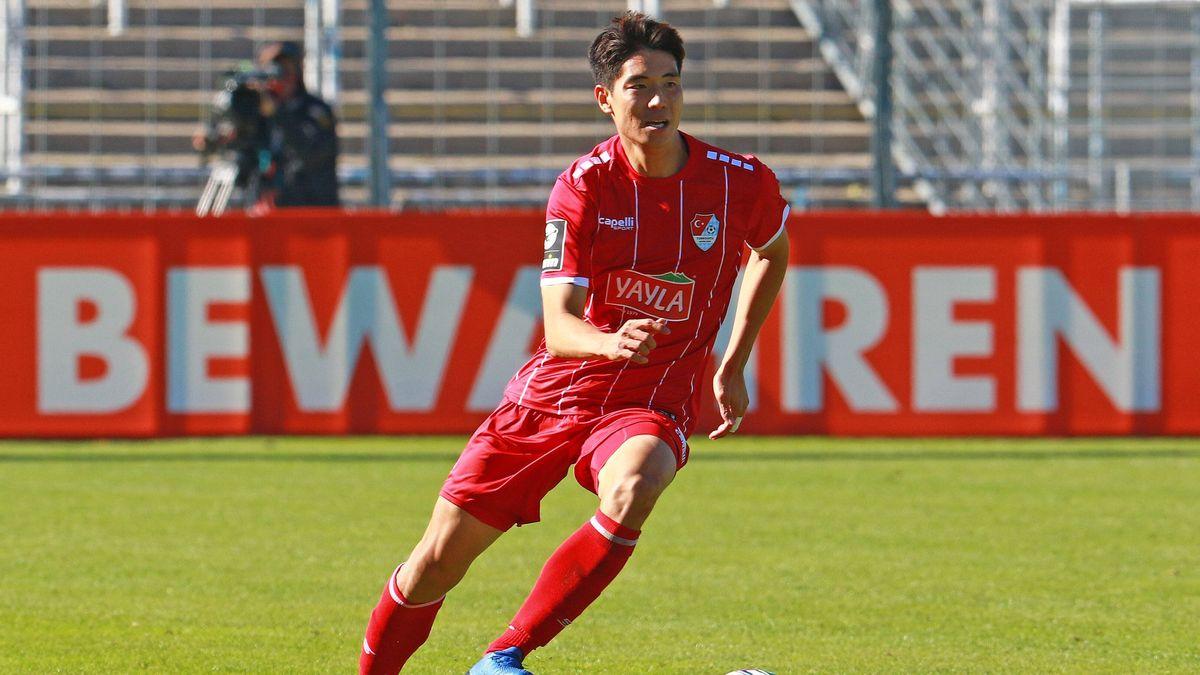 Türkgücüs Yi-Young Park beim Spiel in Mannheim
