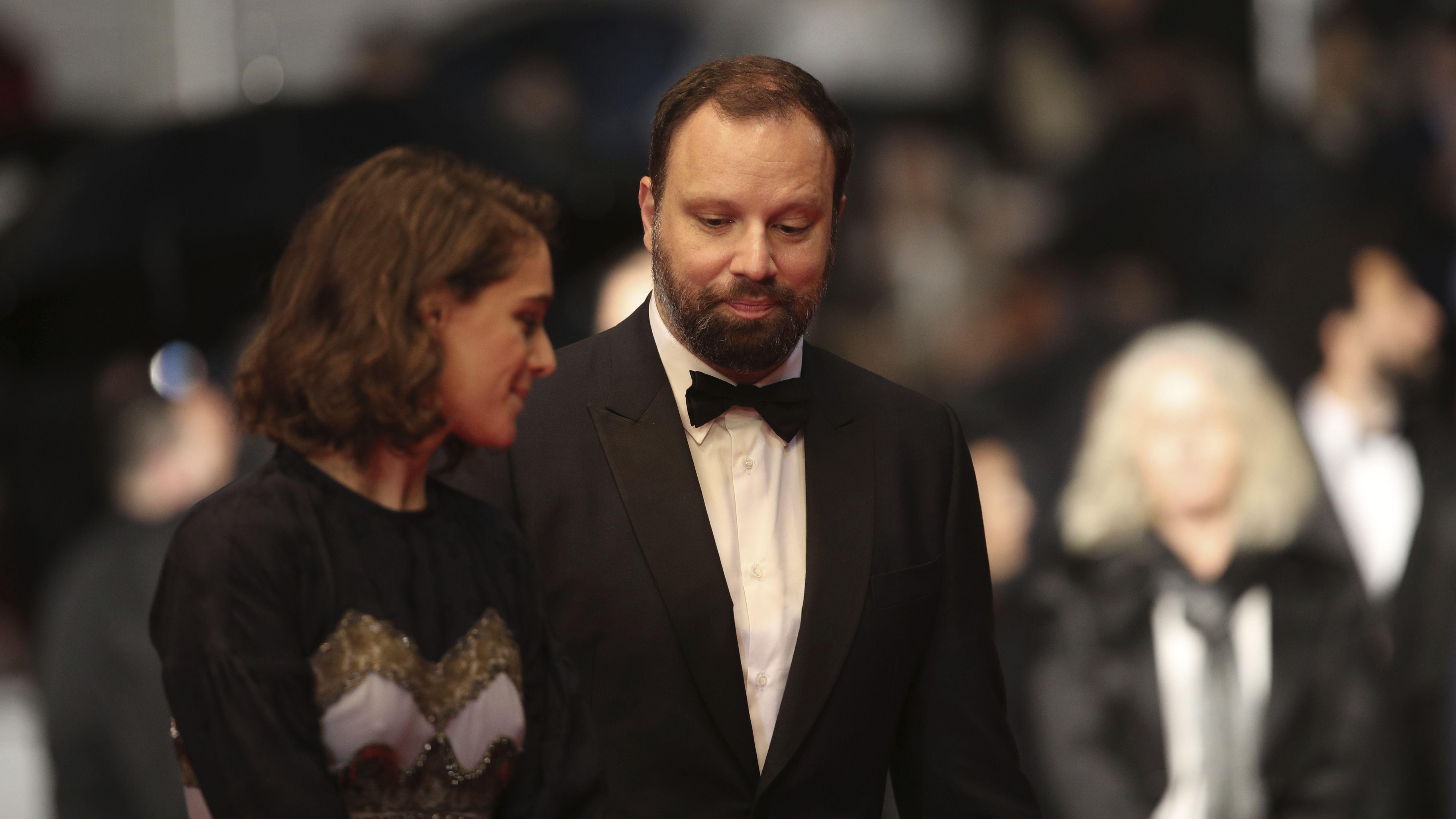 Archivbild: Regisseur Lanthimos Yorgos mit Schauspielerin Ariane Labed