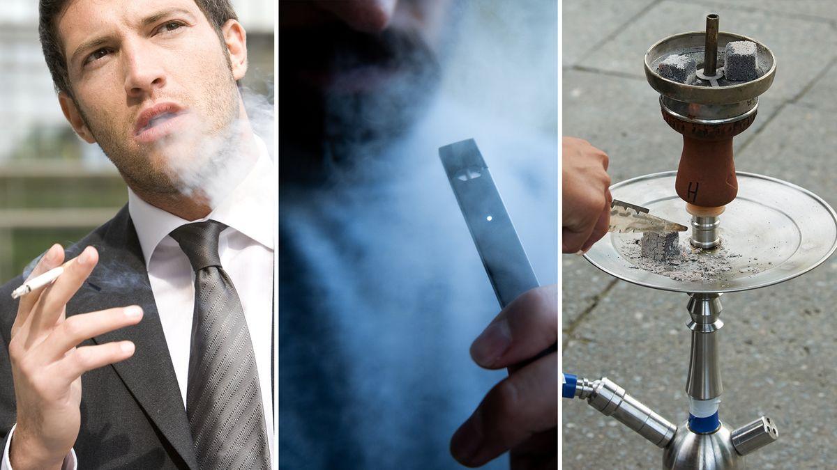 Zigarette, E-Zigarette und Shisha im Vergleich
