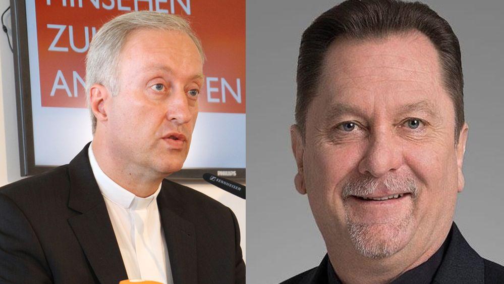 Wechsel im Bistum Regensburg: Im September löst Roland Batz (rechts im Bild) den bisherigen Generalvikar Michael Fuchs (links im Bild) ab.