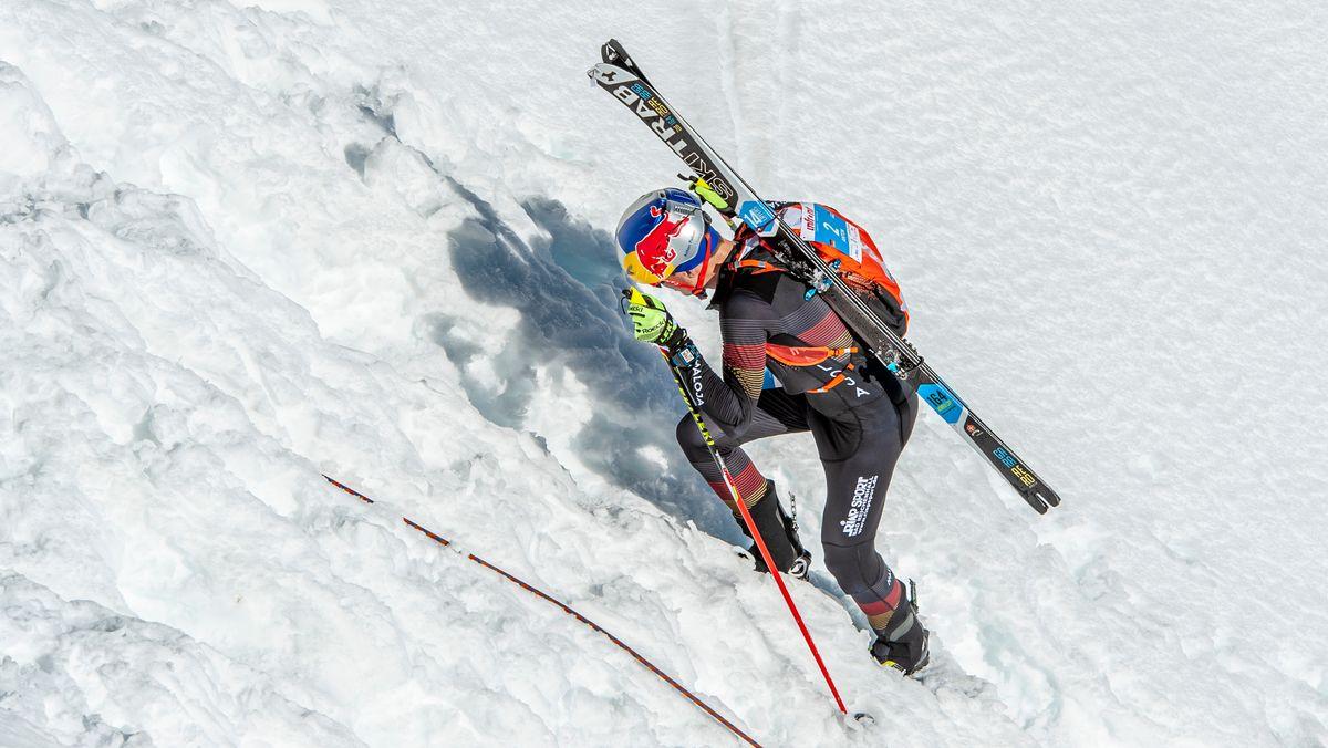 Der Skibergsteiger Toni Palzer