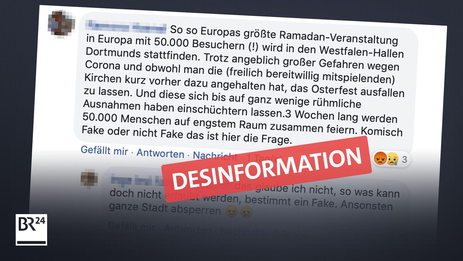 """Falsche Behauptung: Das """"Festi Ramadan"""" in Dortmund findet in diesem Jahr nämlich nicht statt."""