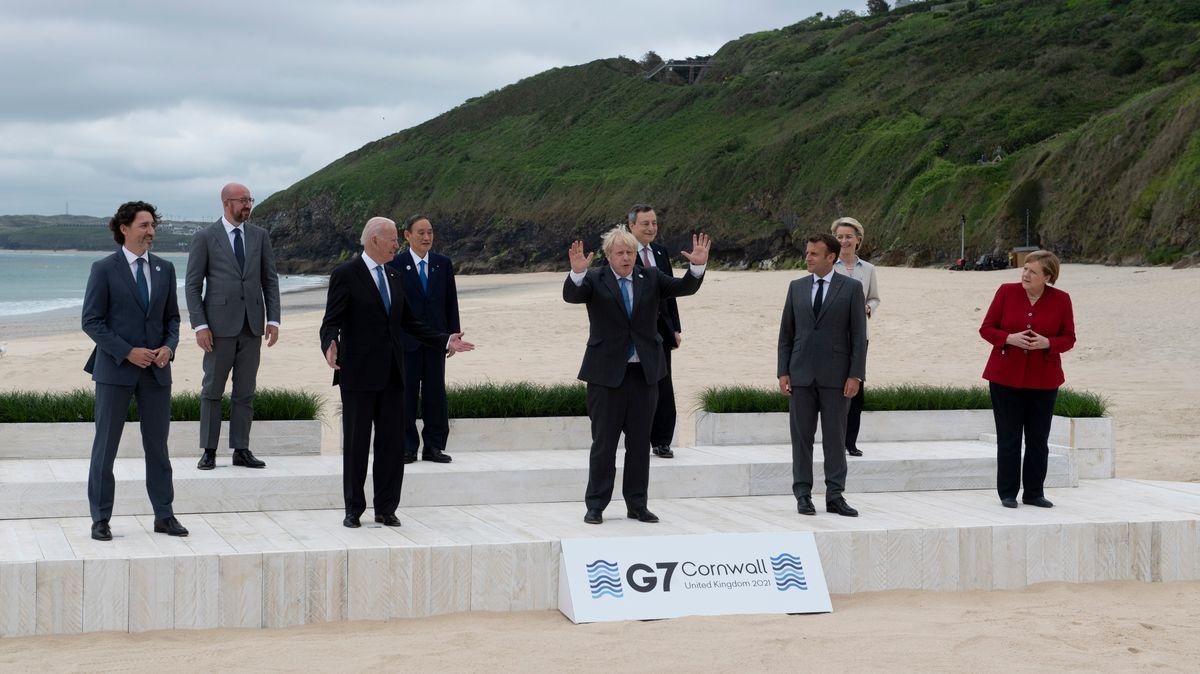 Die Teilnehmer des G7-Treffens