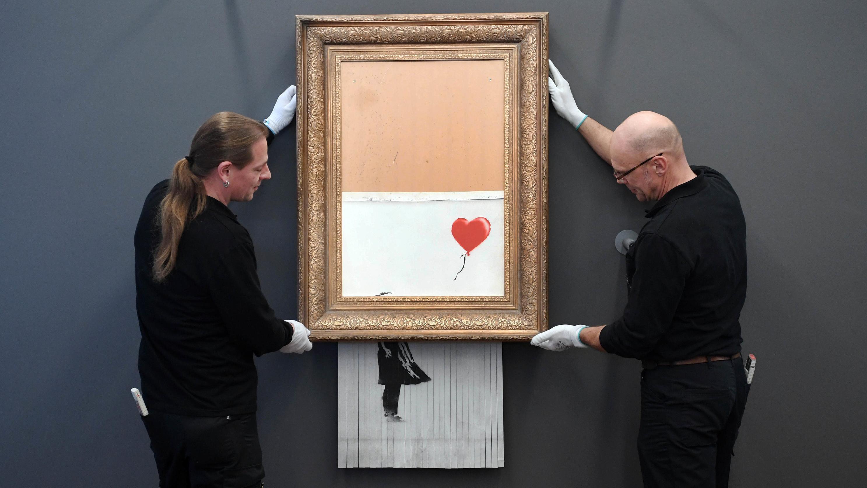 Geschreddertes Banksy-Bild wird im Museum  in Baden-Baden aufgehängt