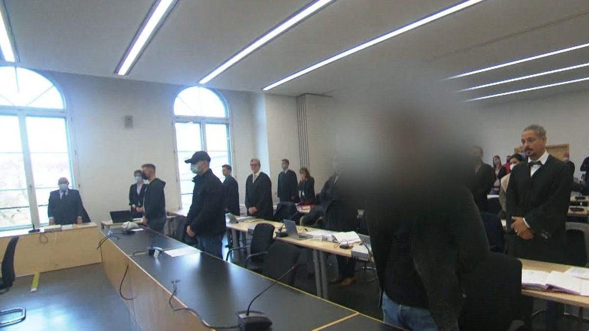 Die drei Angeklagten im Kö-Prozess vor dem Augsburger Landgericht