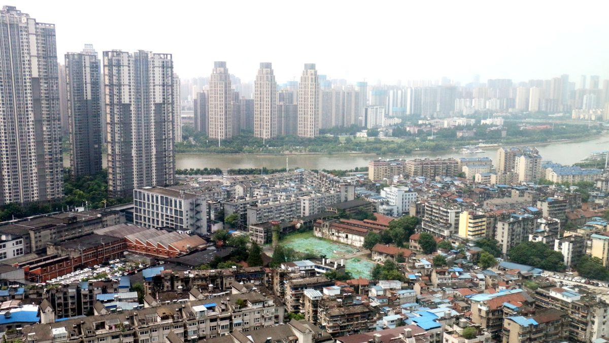 Blick auf Wuhan