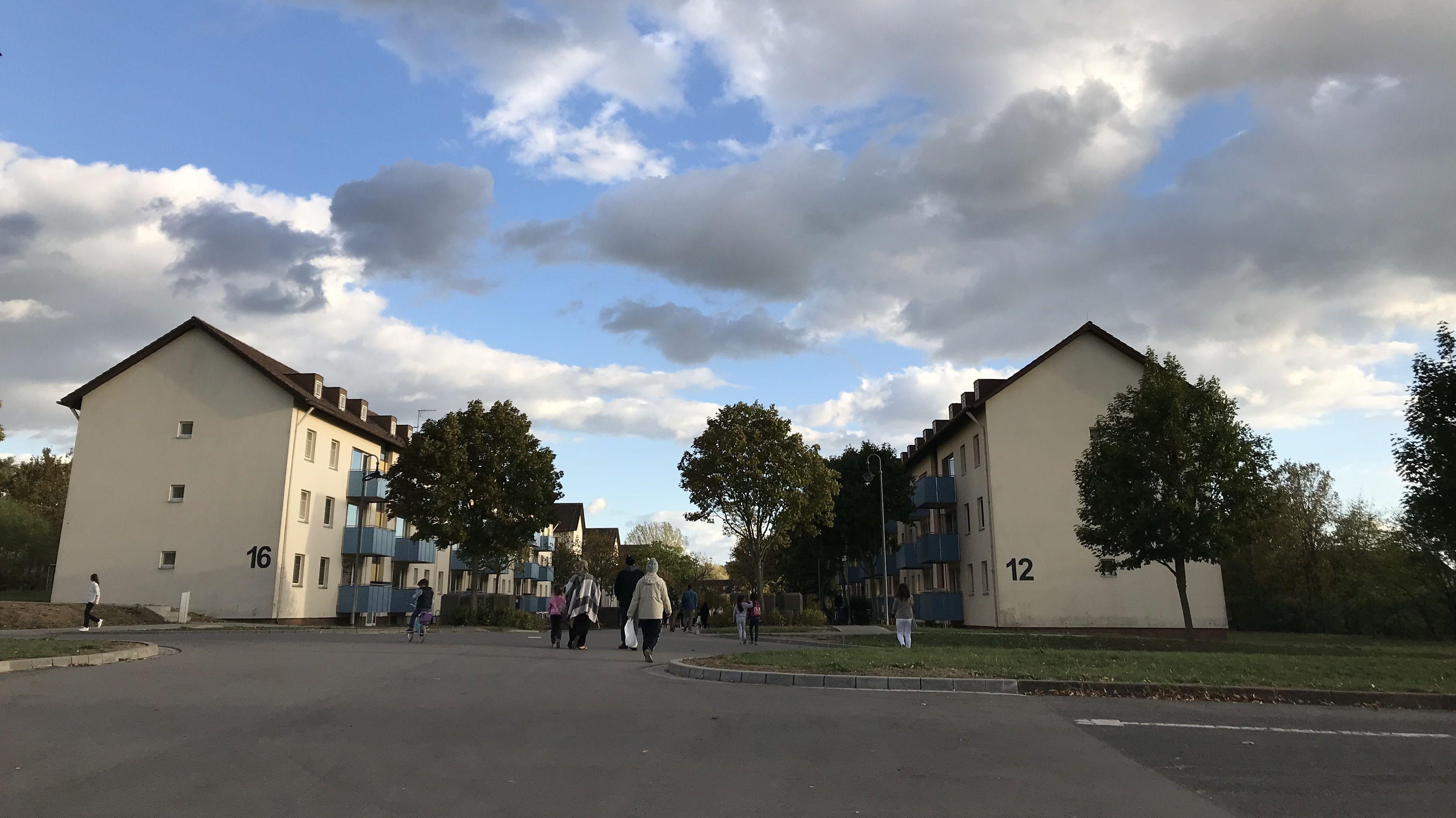 Die Bamberger Asylunterkunft auf einem ehemaligen Militärgelände.