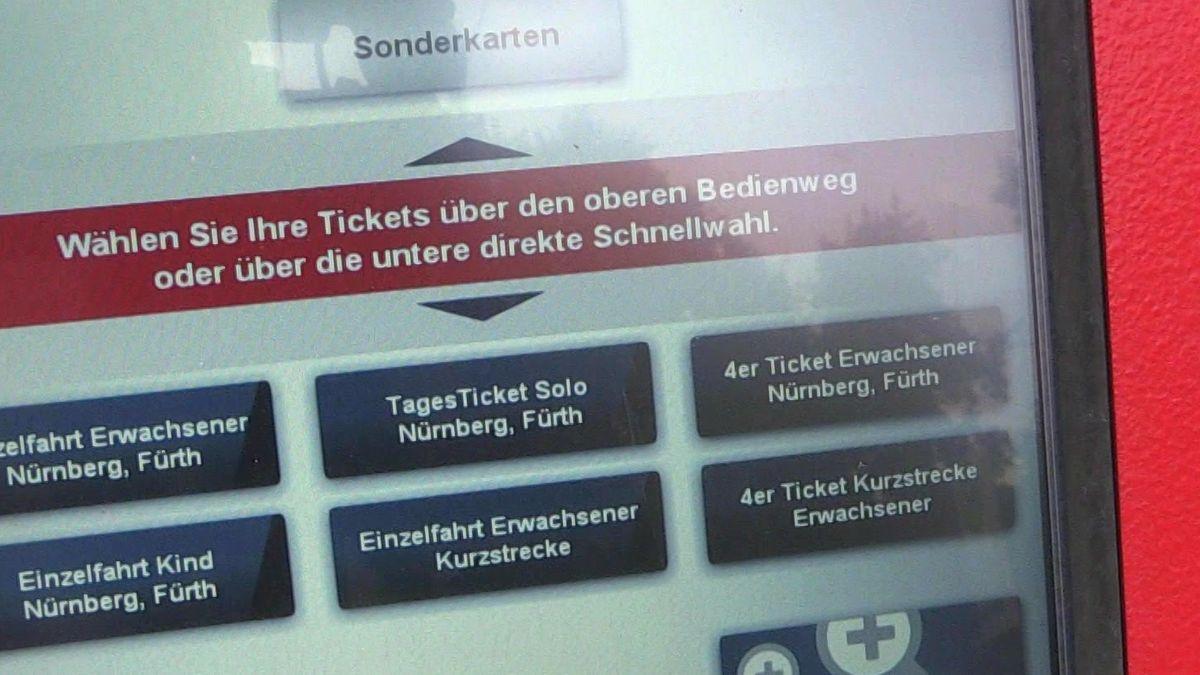 Ticketautomat der Nürnberger VAG
