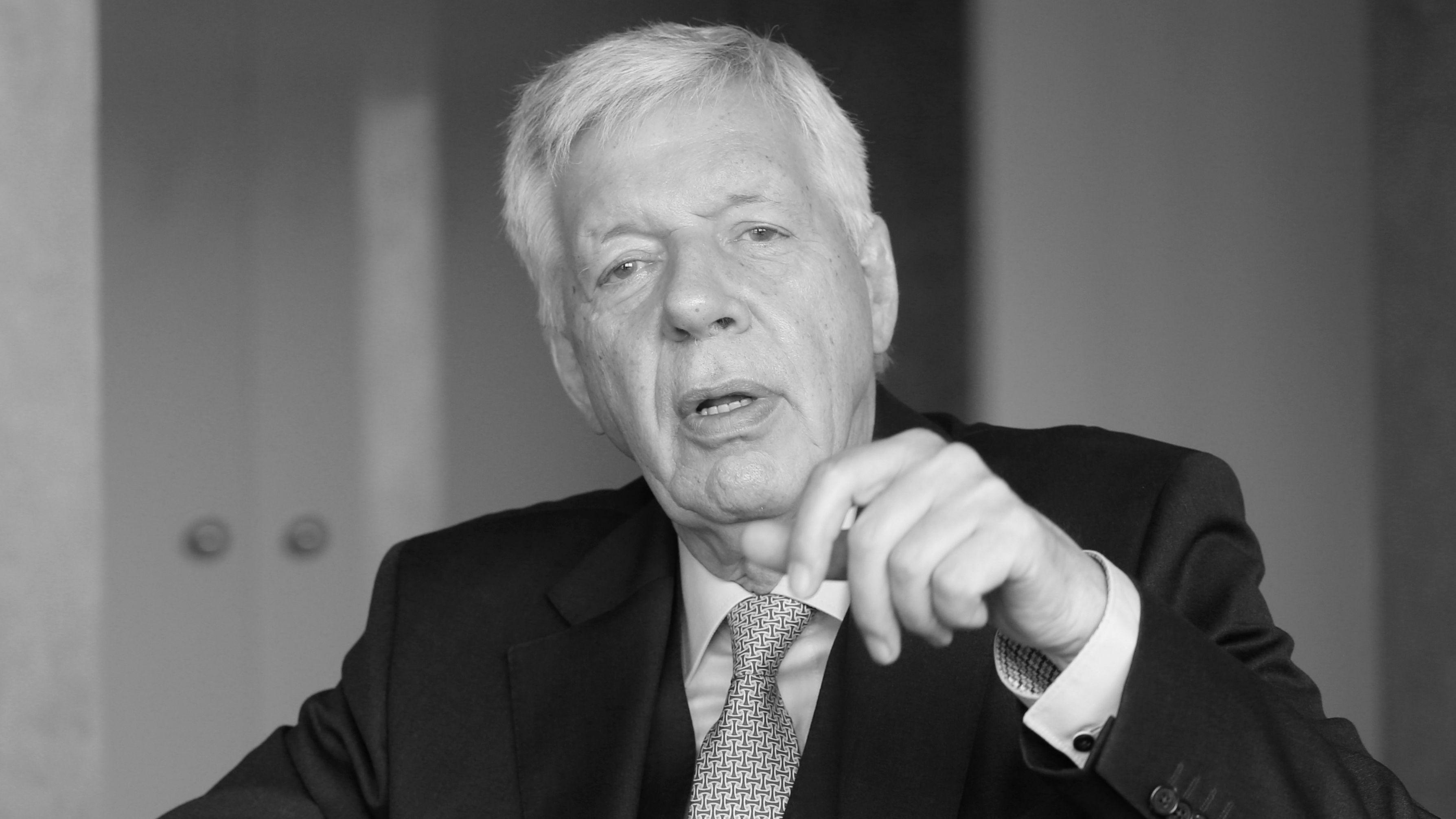 Werner Müller, Vorstandsvorsitzender der RAG-Stiftung und früherer Bundeswirtschaftsminister