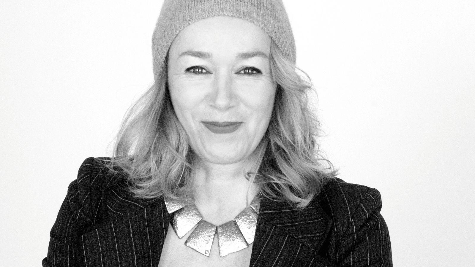Schwarz-weiß Porträt von Nicole Andries