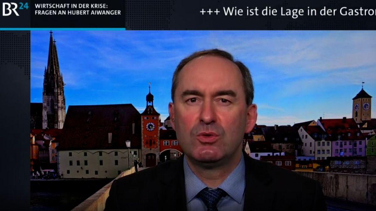 Wirtschaftsminister Aiwanger im BR24Live