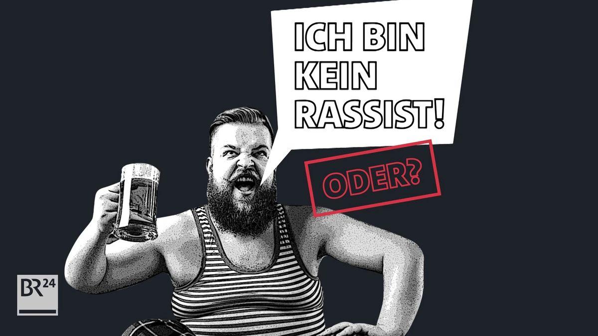 """Grafik: """"Ich bin kein Rassist! Oder?"""" (Symbolbild)"""