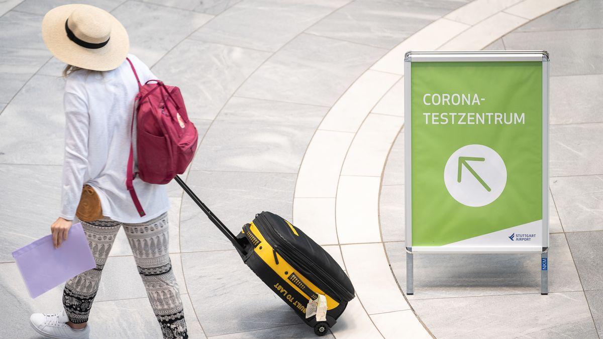 Corona-Test am Flughafen