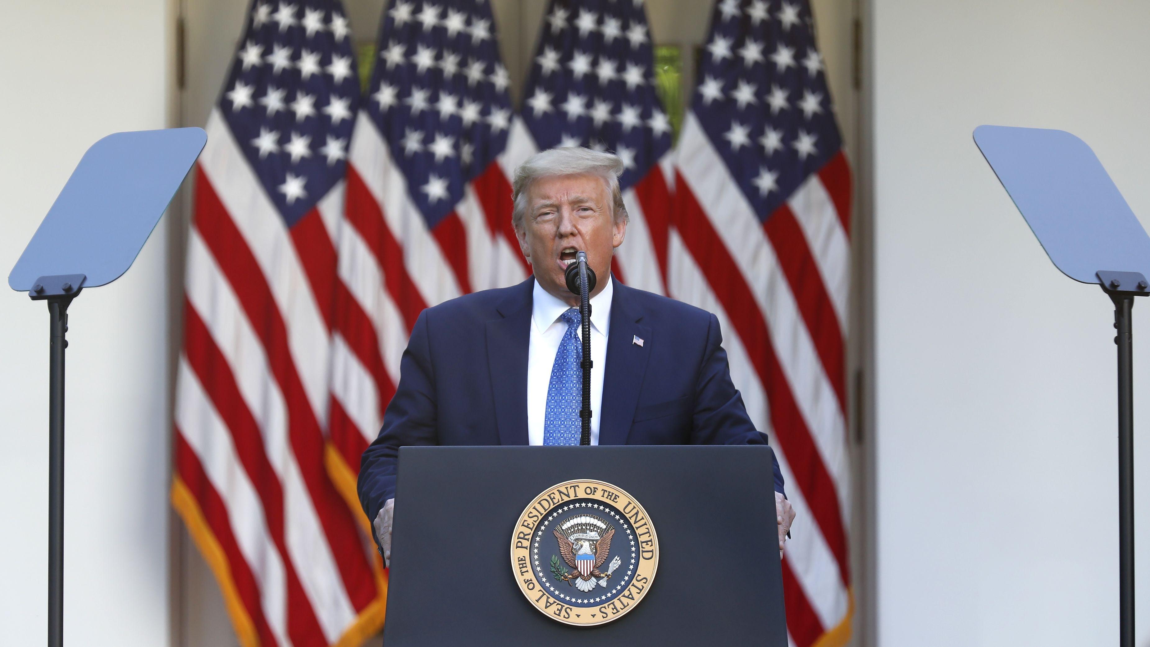Seit Tagen ruft US-Präsident Trump die Gouverneure in den Bundesstaaten zu einem härteren Durchgreifen auf.
