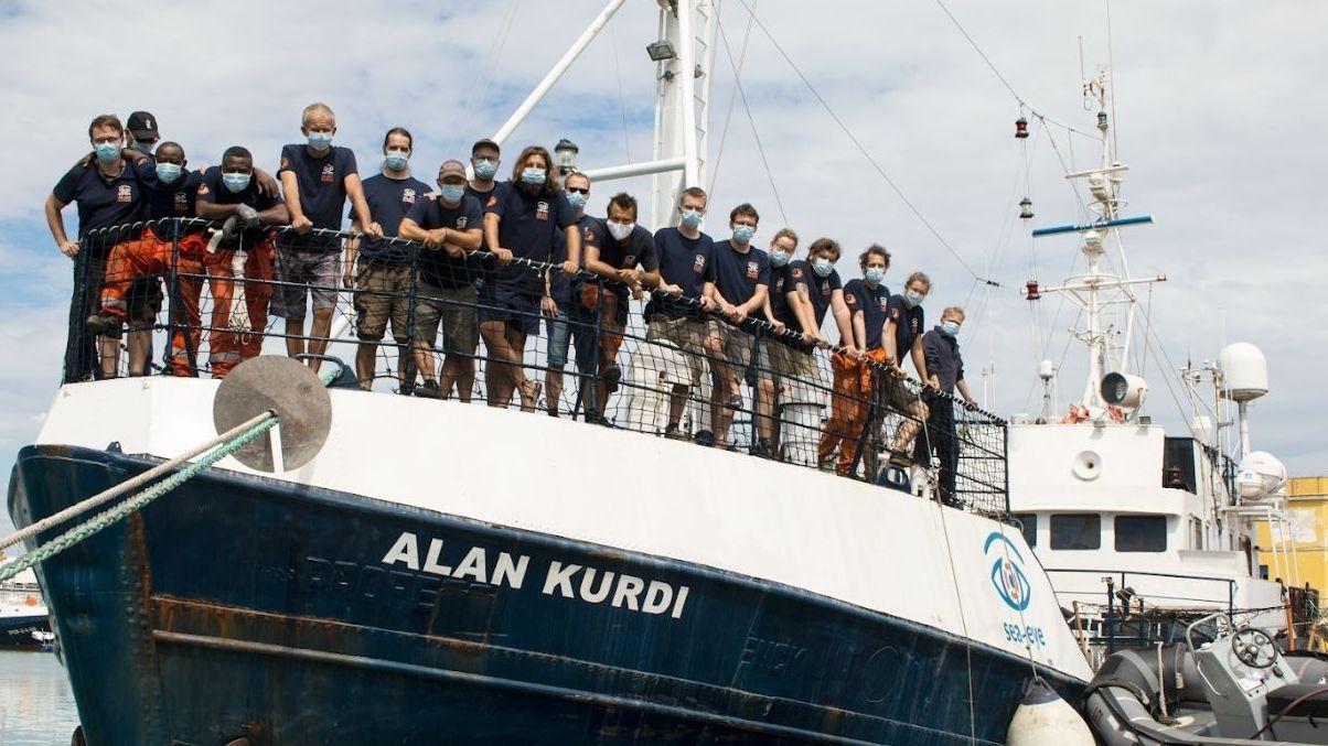 """Die Seenot-Retter von Sea-Eye an Bord der """"Alan Kurdi"""""""