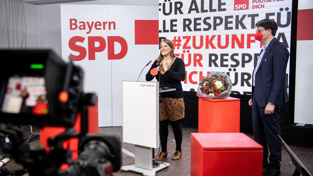 Ronja Endres und Florian von Brunn nach der Wahl