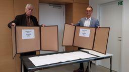 Ralf Haupt (links) und Frank Reppert | Bild:BR/Rika Dechant