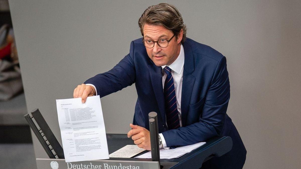 Erste Vernehmung von Scheuer im Untersuchungsausschuss