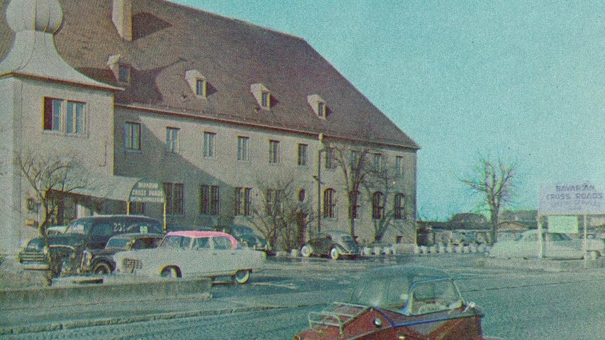 Altes Foto einer Augsburger Kaserne