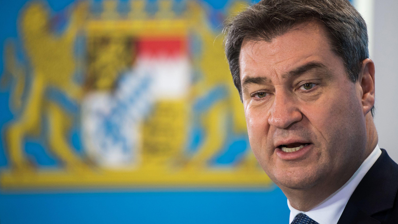 Markus Söder in der bayerischen Staatskanzlei