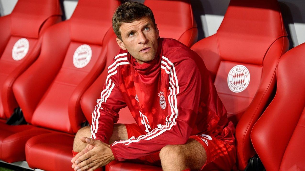 Thomas Müller beim FC Bayern auf der Bank