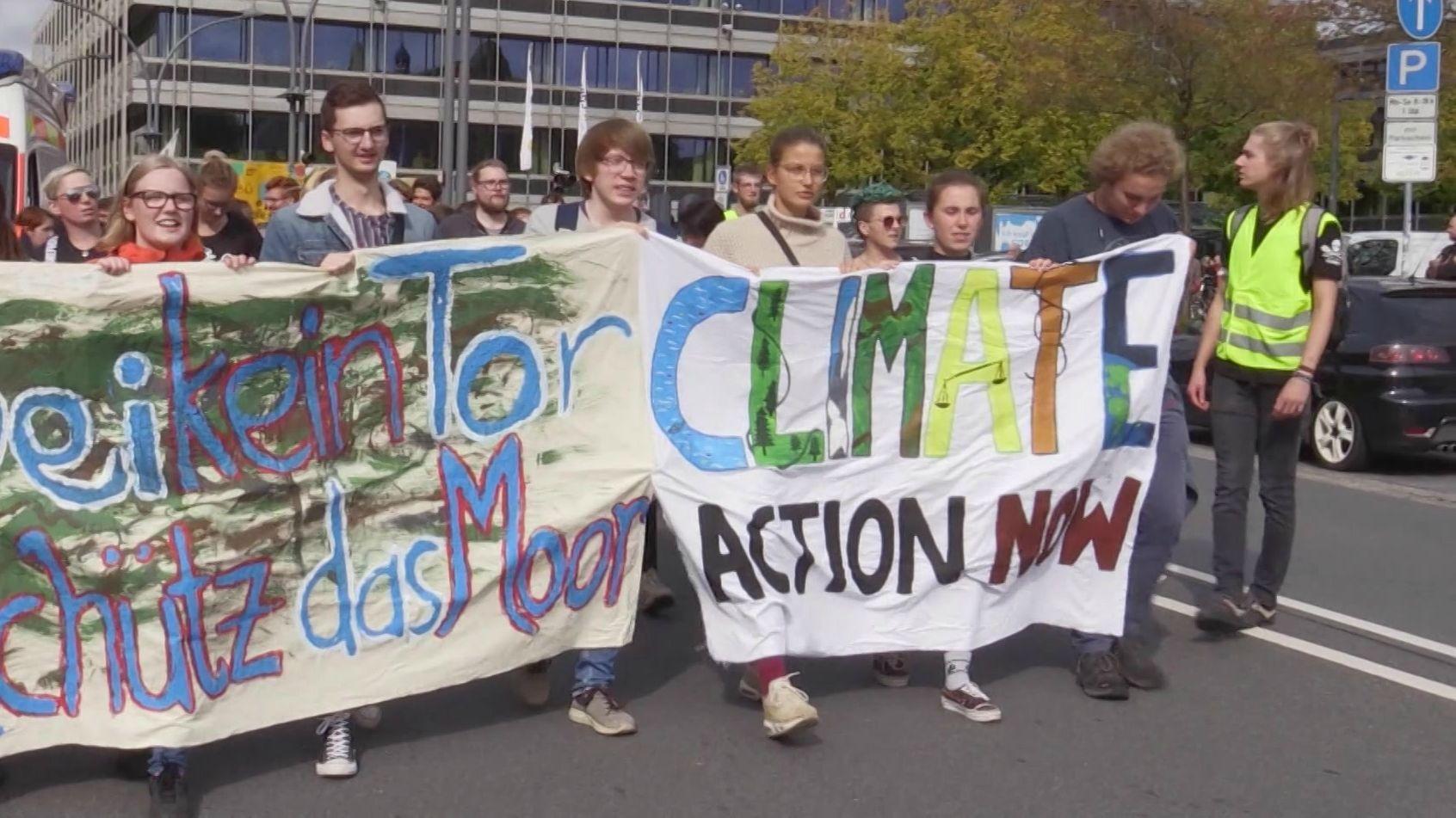 Demonstranten in Coburg