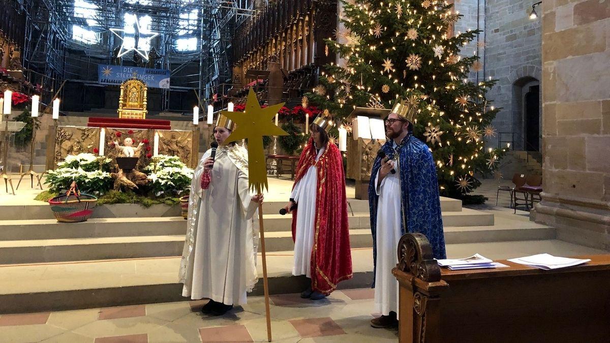 Nur drei Sterninger waren bei der virtuellen Aussegnung im Bamberger Dom.