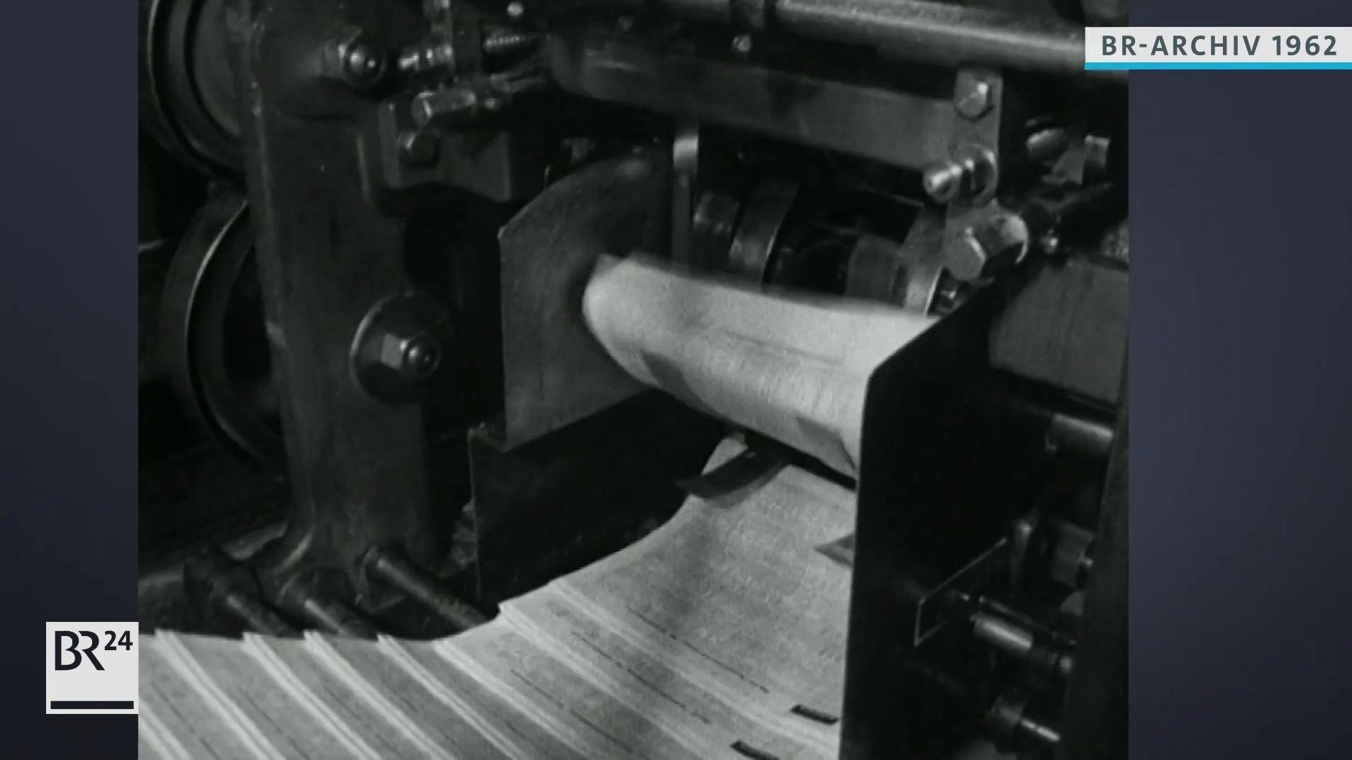 Rotationsmaschine in einer Druckerei