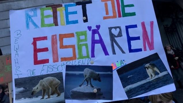Teilnehmer einer Würzburger Schülerdemo für Klimaschutz
