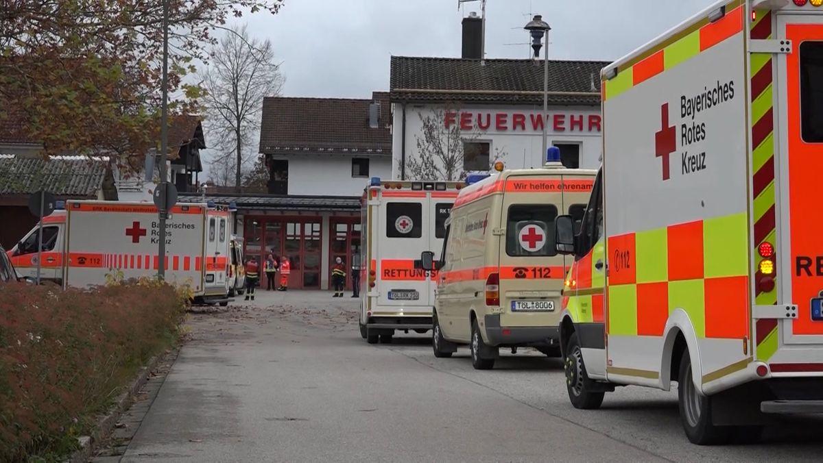 Großeinsatz von Einsatz- und Rettungskräften in Wolfratshausen