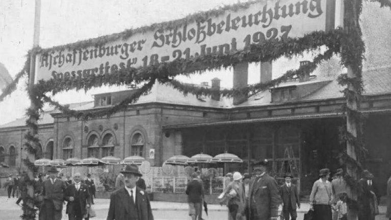 Ausschnitt aus dem Filmmaterial von Fritz Rüth zum Aschaffenburger Volksfest im Jahr 1927.