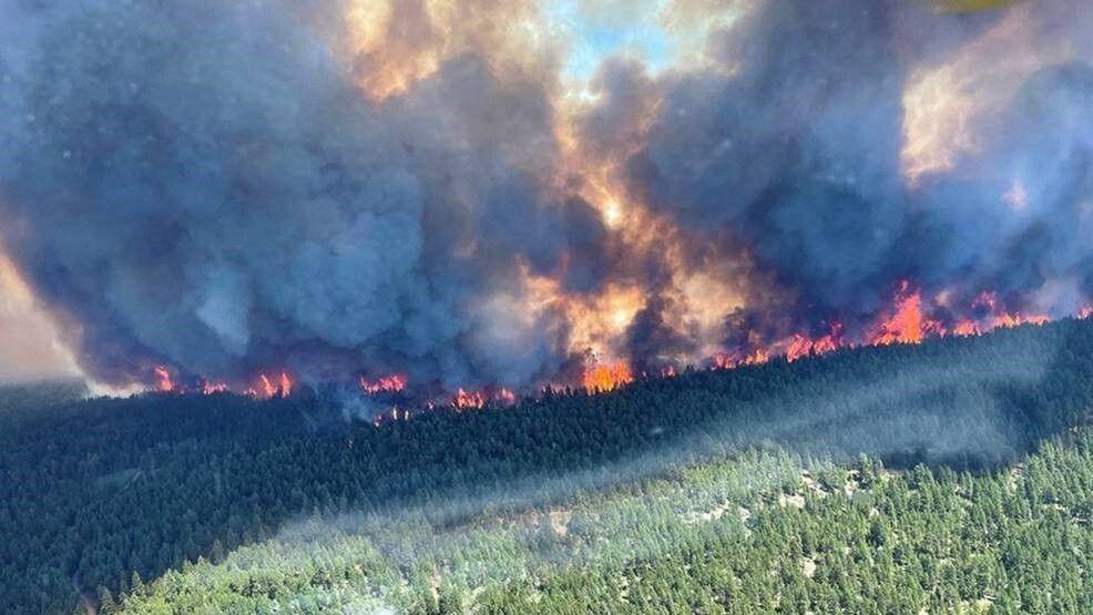 Schwere Waldbrände wüten Anfang Juli in British Columbia, Kanada.