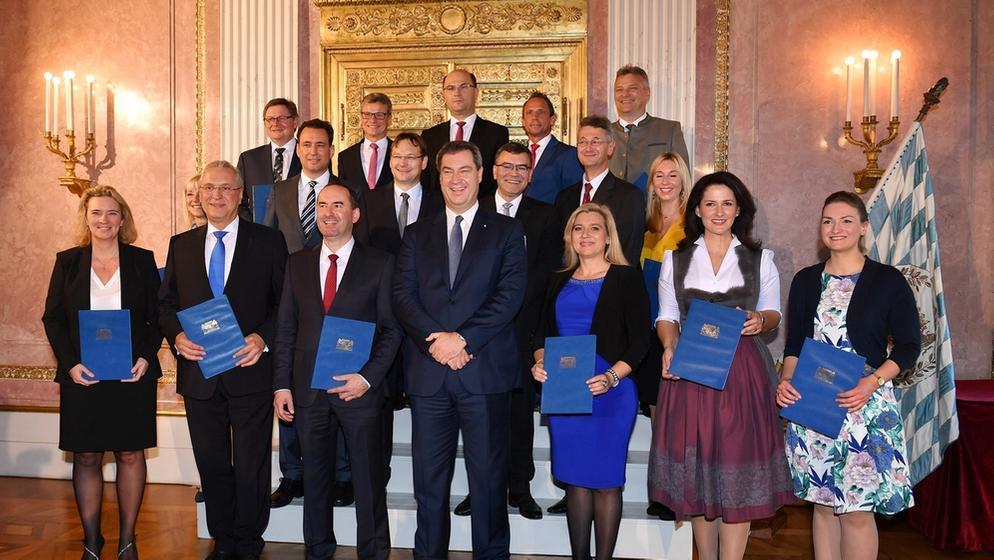 Neues Bayerische Kabinett | Bild:picture-alliance/dpa