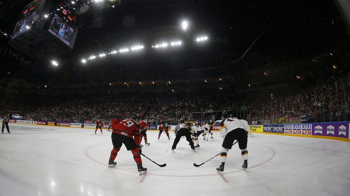 Spielszene von der Eishockey-WM 2017 in Köln