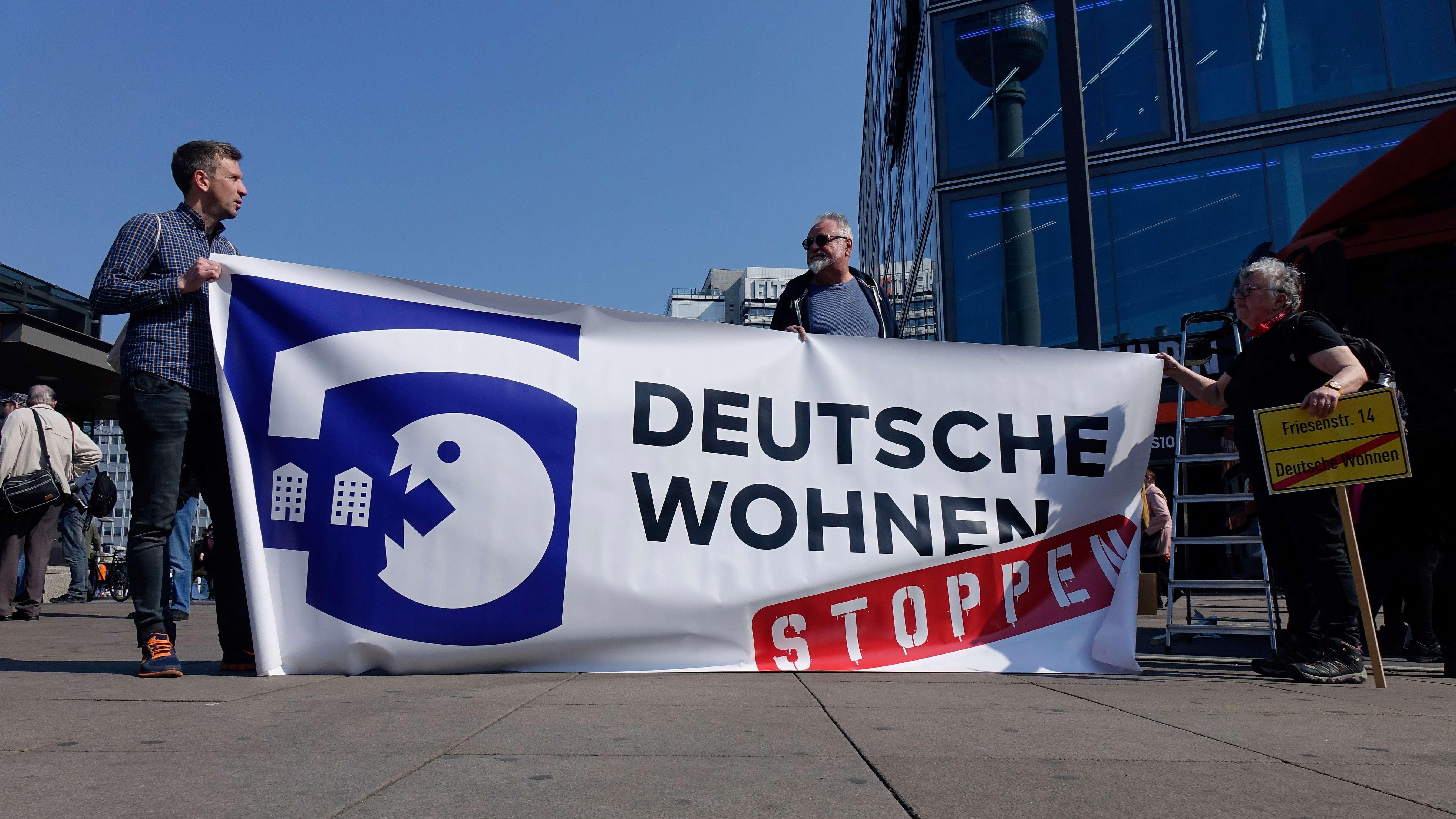 Protest gegen Großinvestoren im Wohnungsbau