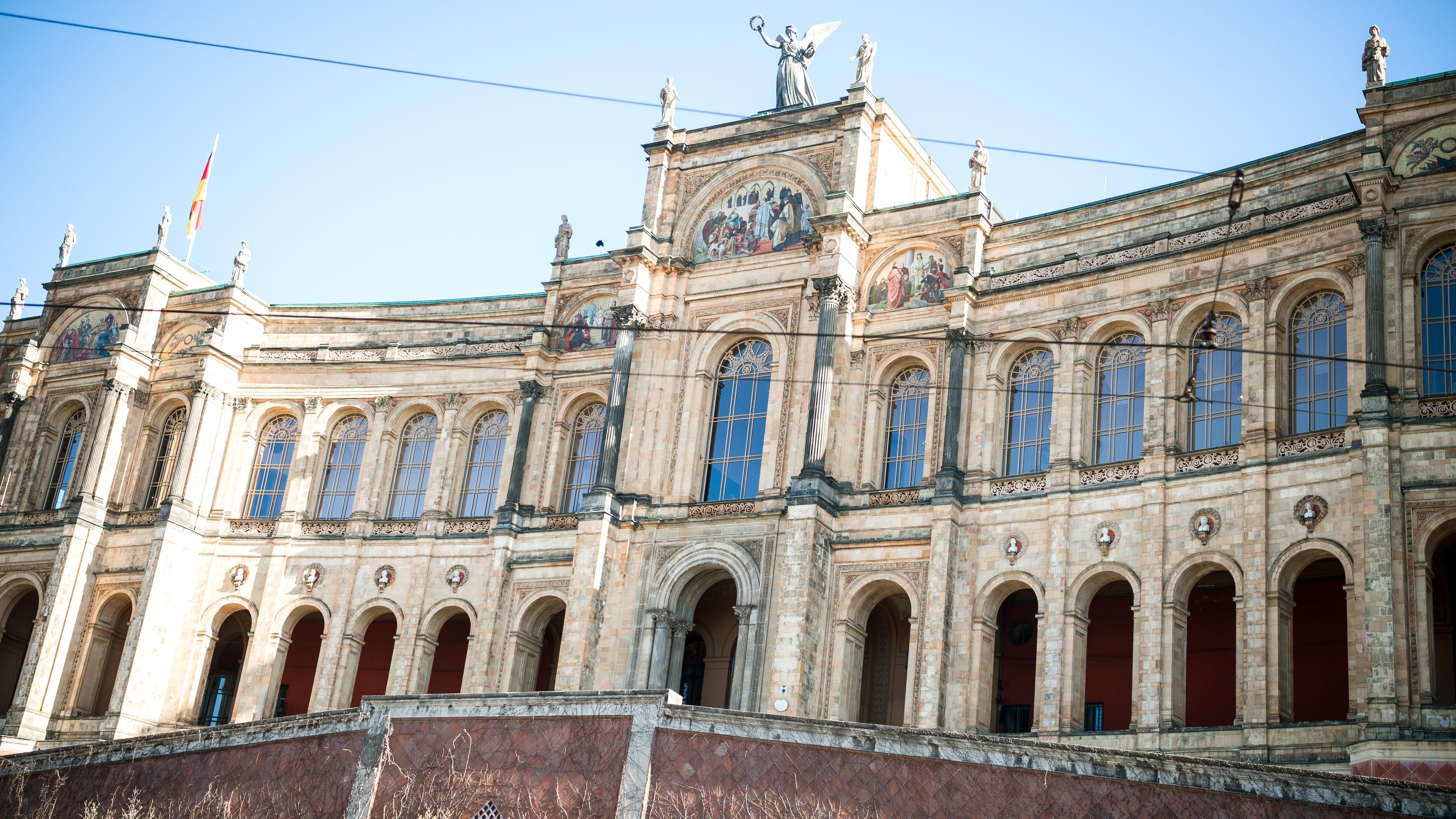 Der Bayerische Landtag im Münchner Maximilianeum