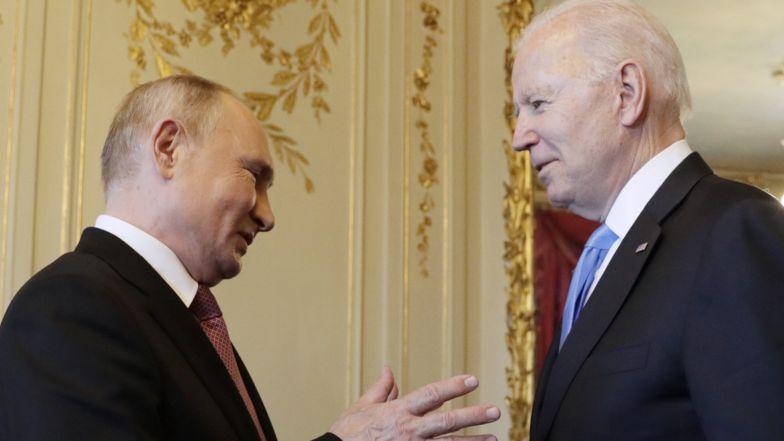 Russlands Präsident Wladimir Putin (l.) und US-Präsident Joe Biden in Genf
