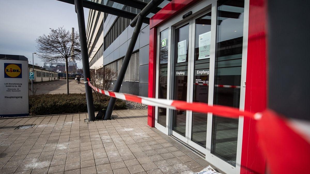 Nach Explosion in Lidl-Zentrale Neckarsulm.