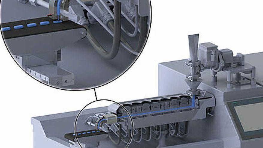 3D-Drucker zur Herstellung von individuell portionierter Tabletten.